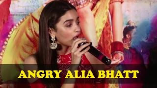 When Badri's Dulhania Alia Bhatt Lost Her Temper | Badrinath Ki Dulhania Trailer Launch