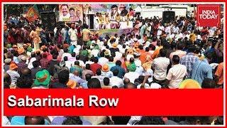 Sabarimala Row : BJP Activists Organise Protest March To Pinarayi Vijayan's Residence