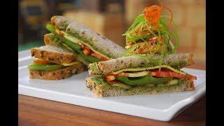 Pesto Sandwich with Grilled Vegetables | New Season | Cooksmart | Sanjeev Kapoor Khazana