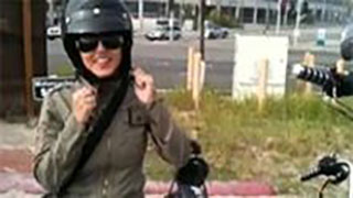 Sunny Leone Riding a Motorcycle in Malibu-1