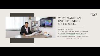 Talk with Dr. Apoorva Ranjan Sharma - India's most prolific Angel Investor