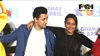 Imran and Sonakshi Having Fun With Cartoons