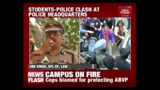 AISA Volunteers Protest Against Police Action At Ramjas College
