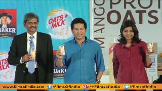 Sachin Tendulkar launches grainy beverage Quaker Oats+Milk