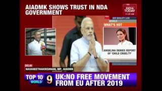 AIADMK Shows Trust In NDA Government