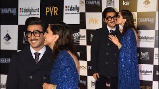Ranveer Deepika & whole family at GRAND Screening of Chhapaak Movie
