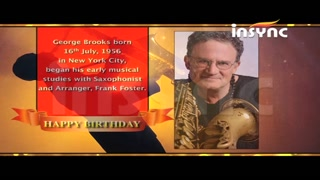 Insync wishes George Brooks on his birthday