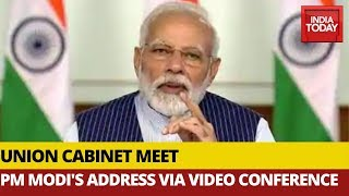 PM Modi Addressing Cabinet Meeting Via Video Conferencing | Watch FULL