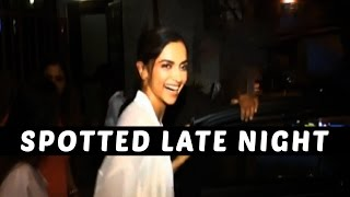 Deepika Padukone's Late Night Recording Session