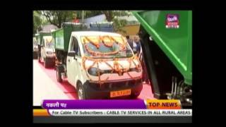 200 New Garbage Collecting Vehicles Flagged Off