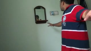 Funny mime act