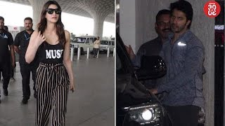 Kriti Flies To Delhi To Spend Time With Family   Varun Dhawan Snapped Post His Gym Session