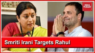 Smriti Irani Takes A Dig At Rahul Gandhi Over Reports Of Him Contesting From Wayanad