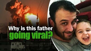 Syrian Dad teaches daughter to laugh at bomb explosions. Know why | NewsMo