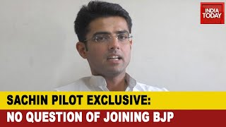 'No Question Of Joining BJP Still A Congressman': Sachin Pilot Breaks His Silence To India Today