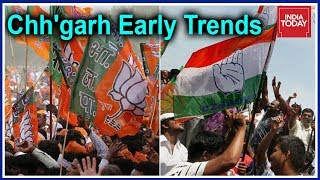 #Results2018 Early Trends: Congress & BJP Tie In Chhattisgarh