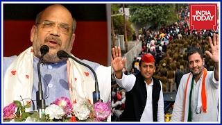 It's Amit Shah vs Rahul-Akhilesh Road Show In Allahabad