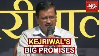 Kejriwal's 10 Guarantees Ahead Of Polls; Promises Free Electricity Clean Water For All