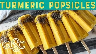 Turmeric and Pineapple Smoothie Popsicles | Good Looking and Cooking With Claire