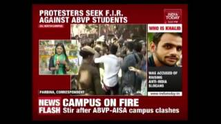 Left Wing Students Demands Action Against ABVP Violence In Ramjas College