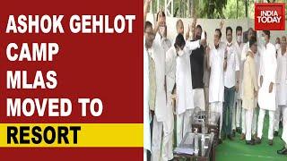 Rajasthan Political Crisis Intensifies; Ashok Gehlot Camp MLAs Moved To Resort