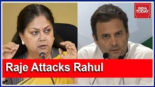 After Rahul Gandhi's 'Chor' Jibe At PM Modi, Vasundhara Raje Hits Back