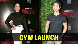 Badrinath Varun Dhawan & Laila Sunny Leone Together At A Gym Launch