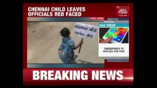 7-Year-Old Protests Against Liquor Shops