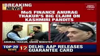 Kashmiri Pandits Will Return To Valley Says MoS Finance Anurag Thakur