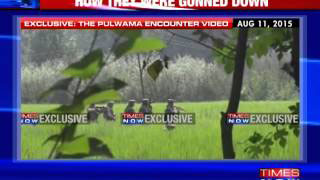 Video shows fierce encounter at Pulwama