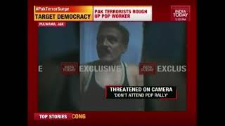 PDP Worker Thrashed By Terrorists And Warned Against Voting In Pulwama