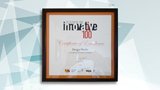 ZengaTV has been awarded the most Certificate of Excellence in smart Innovation