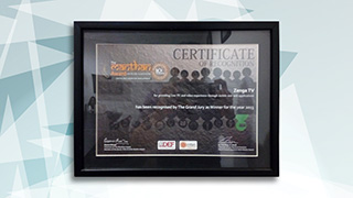 ZengaTV wins Manthan Award 2013