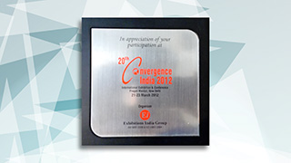 Convergence India 2012 acknowledges ZengaTV participation in the Conference