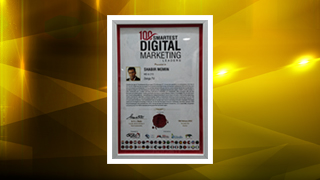 Mr Shabir Momin, MD & CTO, Zenga TV, 100 Smartest Digital Marketing Leaders Award 2018.