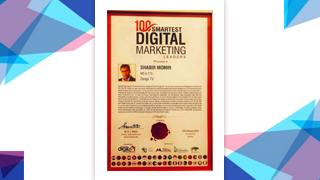 "Mr Shabir Momin, MD & CTO, Zenga TV, has been honored with ""100 Smartest Digital Marketing Leaders"" at World Digital Marketing Congress & Awards."